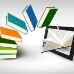 電子書籍-イメージ-タブレットと書籍