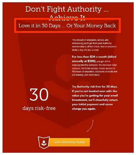 メンバーシップサイト-copyblogger-authority-コピーブロガー-オーソリティ-30日間-返金保証
