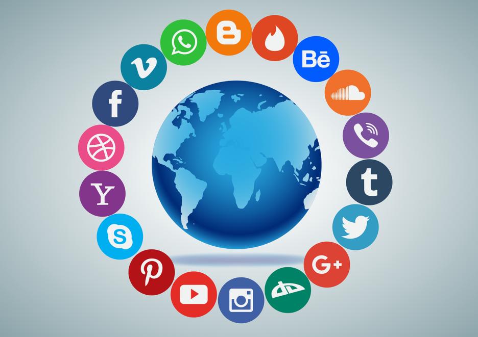 電子書籍-イメージ-ソーシャルメディア-ロゴ-地球