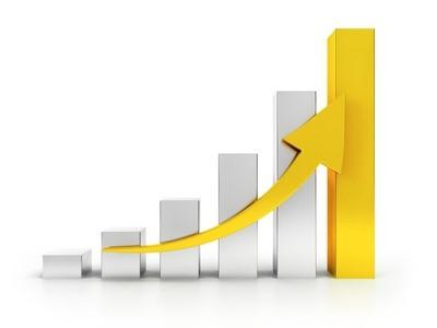 拡張性ある利益-グラフ-矢印