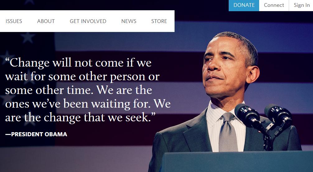 オバマ元大統領-ホームページ