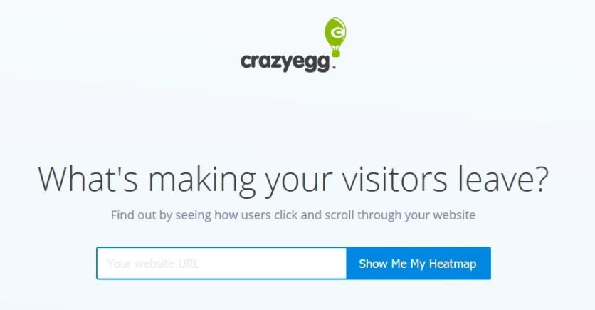 Crazyegg-ホームページ