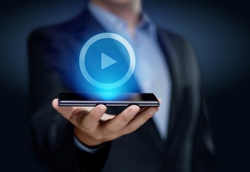 動画再生ボタン-スマートフォン