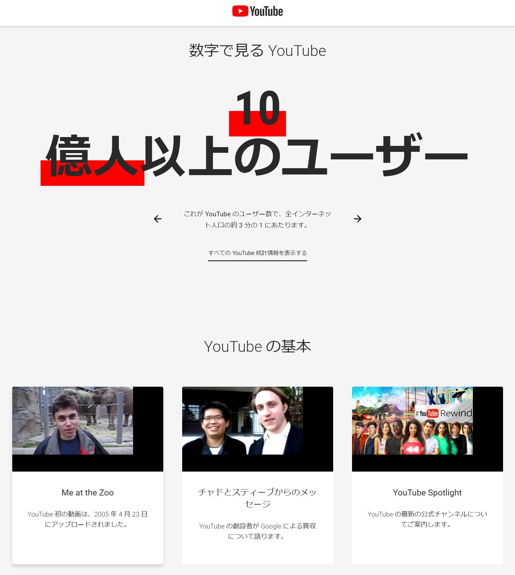 YouTube-プレスルーム