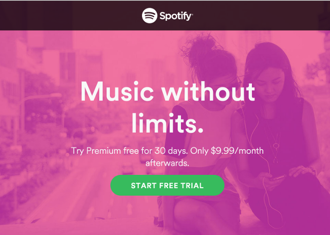 Spotify-無料お試しを始める