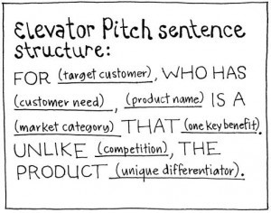 Elevator-Pitch-sentence-structure