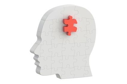 人の頭-パズルのピース