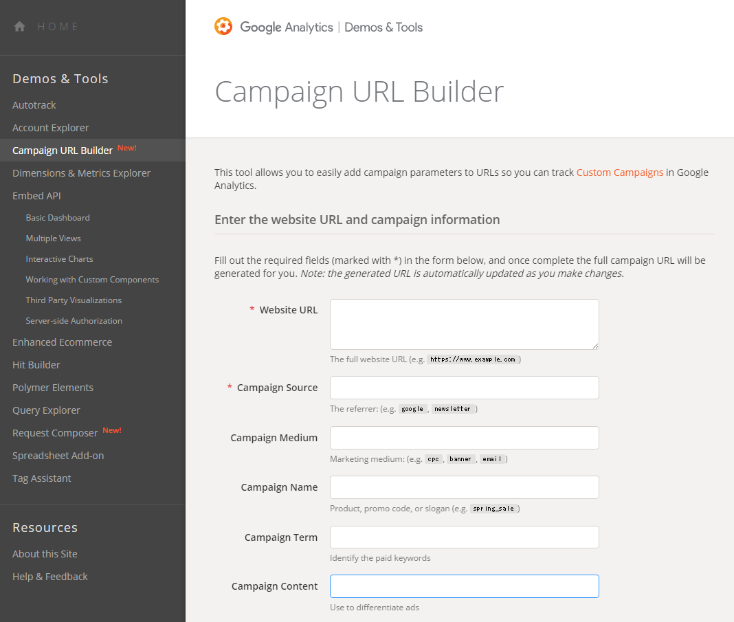 Google-Analytics-Campaign-URL-Builder