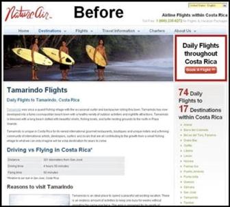 Nature-Airのウェブサイト-変更前
