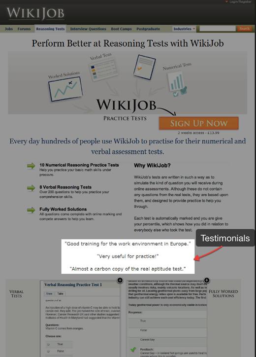 WikiJobのウェブサイト-変更後